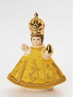 Infant Jesus of Prague Ceramic Clothed – Miňonka 8cm/3.15in