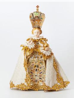 Šaty umělecké 35cm / 13.78in (na sošku Pražského Jezulátka porcelánovou 57cm / 22.44in) - kolekce zlatá