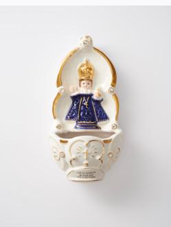 Kropenka keramická s Pražským Jezulátkem - modrá