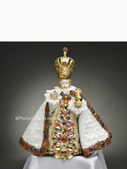 Art Dress 21cm / 8.27in (Designed for Infant Jesus of Prague Porcelain Statue 34,5cm / 13.58in) - White Collection