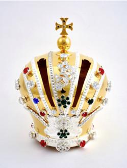 Koruna mosazná pozlacená na Pražské Jezulátko dřevěné 35cm/13.78in a 42cm/16.5in