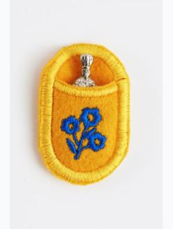 Pražské Jezulátko v pouzdře - poniklované-žluté