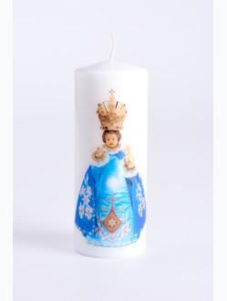 Svíce tištěná - malá 10cm / 3.94in - modrá