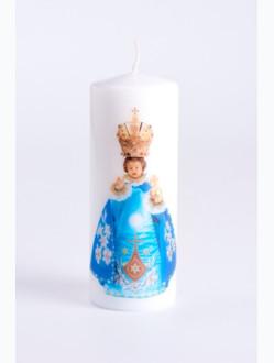 Svíce tištěná - střední - modrá