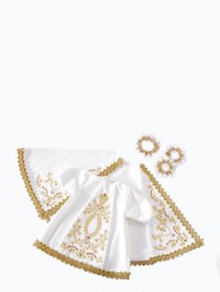 Šaty 39cm / 15.35in (na dřevěnou sošku Pražského Jezulátka 52cm / 20.47in) – bílé
