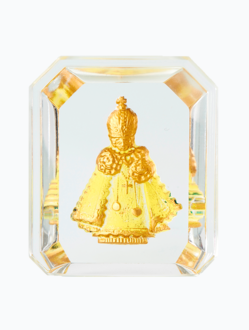 Křišťálový stojánek barevný – žlutý