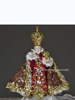Art Dress 22cm / 8.66in (Designed for Infant Jesus Porcelain Statue 34,5cm / 13.58in) - Red Collection