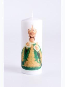 Svíce tištěná - střední - zelená