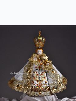 Šaty umělecké 35cm / 13.78in (na porcelánovou sošku Jezulátka  57cm / 22.44in) - kolekce bílá