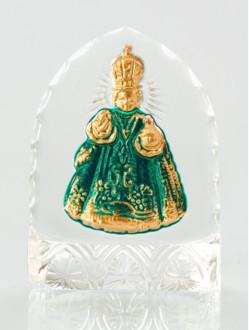 Křišťálový stojánek gotický – mini-zelený