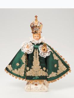 Pražské Jezulátko keramické oblečené – nové 39cm/15.35in - zelené