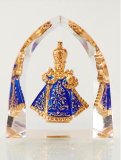 Křišťálový stojánek gotický – modrý