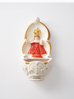 Kropenka keramická s Pražským Jezulátkem - červená