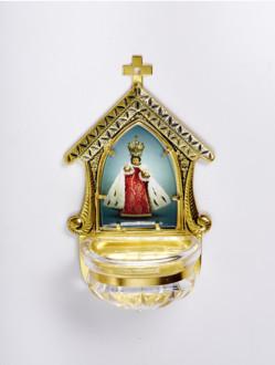 Kropenka kovová s Pražským Jezulátkem - velká č. 11 - zlatá