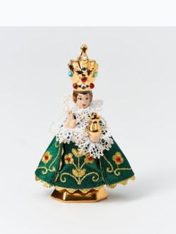 Pražské Jezulátko Porcelánové Oblečené – Mikro 9cm/3.54in