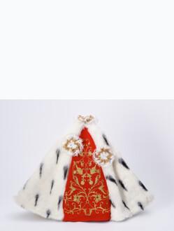"""Šaty (35cm / 13.78"""") na Pražské Jezulátko dřevěné (42cm / 16.5"""") – královské"""