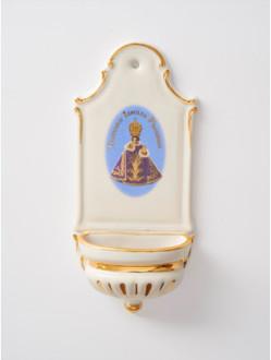 Kropenka porcelánová s Pražským Jezulátkem - malá - fialová