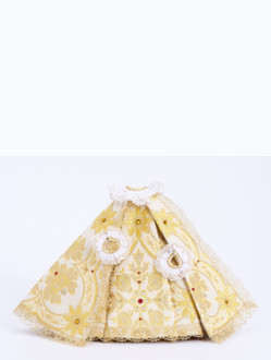 Dress 21cm / 8.27in (Designed for Infant Jesus of Prague Porcelain Statue 34,5cm / 13.58in and Resin Statue 24cm / 9.45in) - Gold