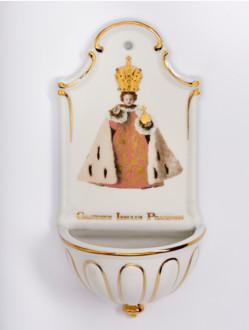 Kropenka porcelánová s Pražským Jezulátkem - velká - královská