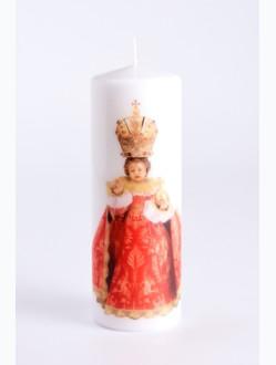 Svíce tištěná velká - červená