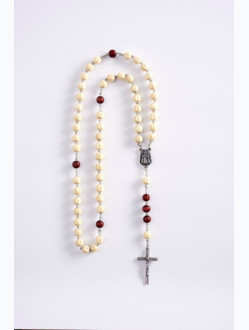Wood Rosary – White