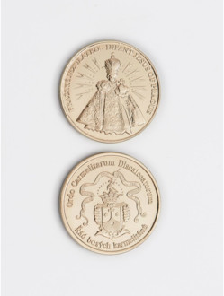 White Infant Jesus/Coat-of-Arms Brass Coin