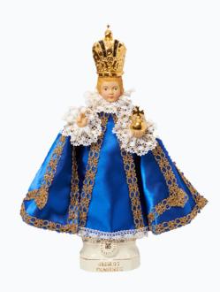 Pražské Jezulátko keramické oblečené – střední 37cm / 14.56in - modré