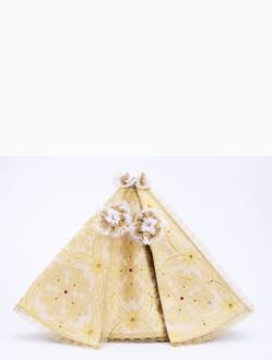 Šaty 35cm / 13.78in (na dřevěnou sošku Pražského Jezulátka 42cm / 16.5in) – zlaté
