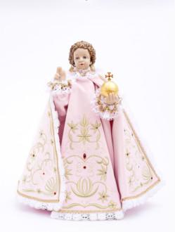 Infant Jesus of Prague – Reproduction 48cm/18.89in Dressed - Pink