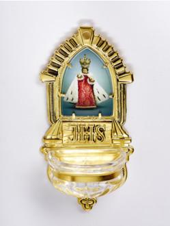 Kropenka kovová s Pražským Jezulátkem - velká č. 9 - zlatá