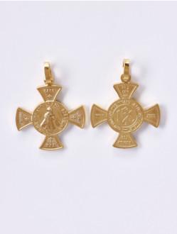 Přívěsek Kovový – Pražské Jezulátko -Ochranný Kříž Malý-Žlutý