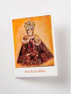 Přání Pražské Jezulátko malované – červené