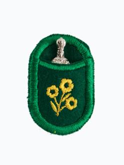 Pražské Jezulátko v pouzdře - poniklované-zelené