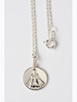 Medailka stříbrná - Pražské Jezulátko - kulatá s řetízkem