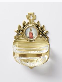 Kropenka kovová s Pražským Jezulátkem - malá č. 4 - zlatá