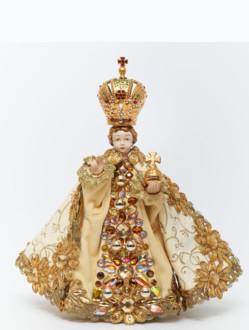 Šaty umělecké 21cm / 8.27in (na sošku Pražského Jezulátka porcelánovou 34,5cm / 13.58in) - kolekce zlatá