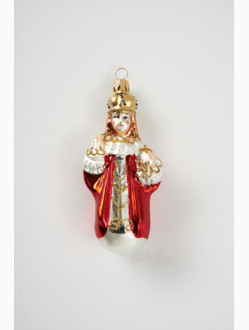 Infant Jesus of Prague Christmas Ornament – Red