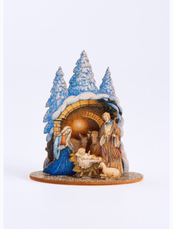 Betlém dřevěný malý