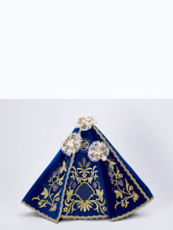 Dress 35cm / 13.78in (for Wooden Infant Jesus of Prague Statue 42cm / 16.5in) - Blue