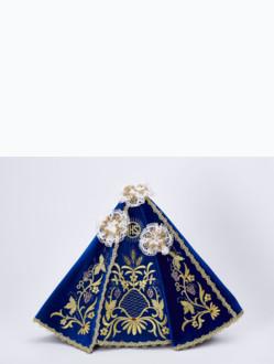 Šaty 35cm / 13.78in (na dřevěnou sošku Pražského Jezulátka 42cm / 11.81in) – modré