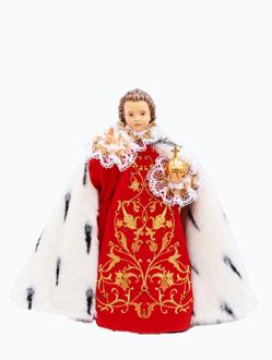 Pražské Jezulátko dřevěné oblečené 35cm/13.78in - královské