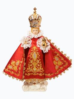 Pražské Jezulátko keramické oblečené – nové 39cm / 15.35in - červené