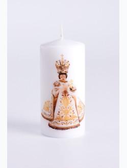 Svíce tištěná - střední - bílá
