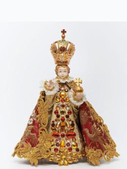 Šaty umělecké 21cm / 8.27in (na sošku Pražského Jezulátka porcelánovou 34,5cm / 13.58in) - kolekce červená