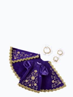 Šaty 18cm / 7.09in (na dřevěnou sošku Pražského Jezulátka 23cm / 9.06in) – fialové