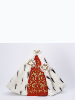 Šaty 35cm / 13.78in (na dřevěnou sošku Pražského Jezulátka 42cm / 16.5in) – královské