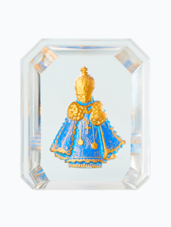 Křišťálový stojánek barevný – modrý