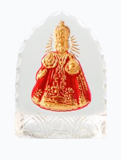 Křišťálový stojánek gotický – mini-červený