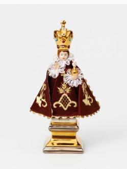 Pražské Jezulátko Porcelánové Oblečené – Mini s Podstavcem 17,5cm/6.89in