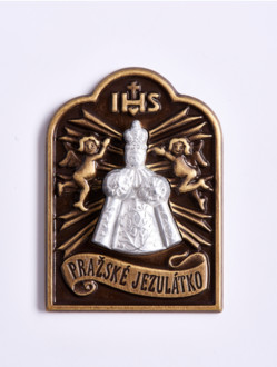 Magnetic Infant Jesus Tag - Silver